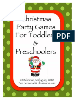 Christmas Games for Toddlers and Preschoolers