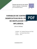 Informe Individual Destilacion