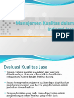Manajemen Kualitas Dalam Industri Jasa 1