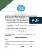 IKIC Volunteer Application