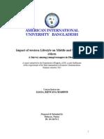Western Impact in Bangladesh