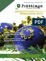 Tuxer Prattinge - Ausgabe Weihnachten 2013