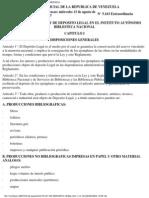 Reglamento Ley Deposito Legal Biblioteca Nacional