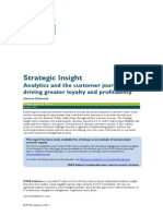 Analytics Strategic Insight Analytics and the Customer Journey