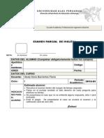 Examen Parcial, Inglés I
