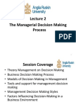 Managerial Decision Making Process