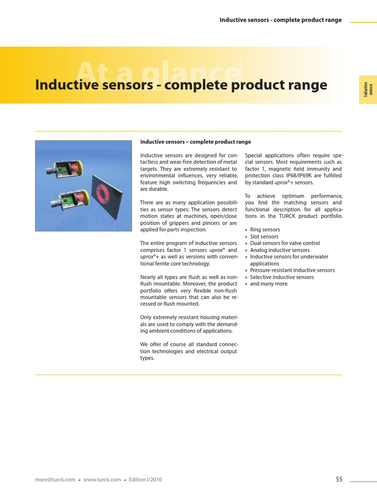 Turck-senzori de Proximitate Inductivi | Inductor | Bipolar Junction  Transistor