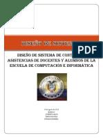 DISEÑO DE SISTEMA de control de asistencia PARA PRESENTAR
