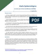 11 Agosto 2012 Influenza a(H3N2)V