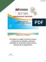 OYM UD2 Sem05 - Análisis y Diseño del Trabajo