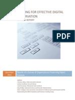 Staffing for Effective Digital Preservation
