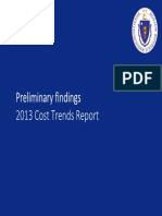 Massachusetts Health Policy Commission 2013 Preliminary Cost Trends Report