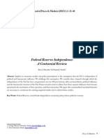 Federal Reserve Independence a Centennial Review