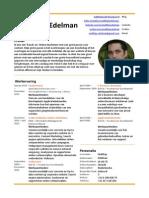 cv van Matthijs Edelman