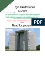 Georgia Guide Stones & NWO