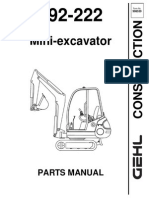 Gehl 142 152 Compact Excavator Parts Manual 908538 | Screw | Machines