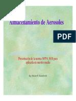 Almacenamiento de Aerosoles