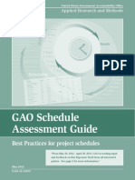 GAO Schedule Assessment Guide