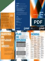 Convocatoria 2014 - Maestría en Estudios de Género