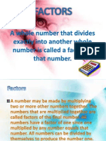 Mathematics Factors (Lisa Wong)