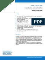 Atmel 5295S TPM AT97SC3204 LPC Interface Datasheet Summary