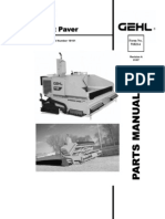 1448 Asphalt Paver Parts Manual