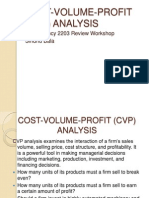 Cost Volume & Profit