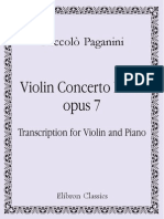 Paganini - Violin Concerto n°2 in B minor Op[1].7 'La Campanella' (Violin solo and piano)