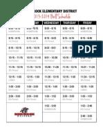 red rock bell schedule