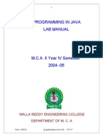 Programming in Java(2004-2005)