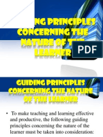 Guiding Principles Concerning the Nature of the Learner