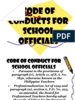 Code of Conduct for School Officials