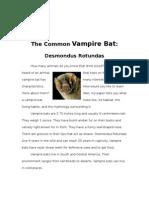 The Common Vampire Bat