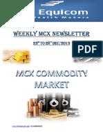 MCX Market Newsletter 23-December
