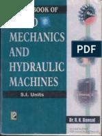 A TextBook of Fluid Mechanics and Hydraulic Machines Dr R K Bansal