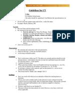Guidelines CV