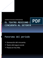 El Teatro Mexicano Del Cincuenta Al Setenta