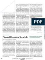Pains and Pleasures of Social Life(2009) Science