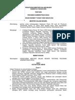 Permendagri Nomor 32 Tahun 2006 Pedoman Administrasi Desa
