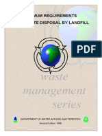 DWAF Minimum Requirements for Disposal by Landfill 266