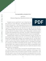 Uncomputability and Physical Law - Seth Lloyd