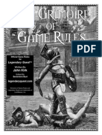 Legendary Quest the Grimoire of Game Rules
