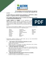 Formulario licitación agencias de viajes