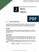 Algebra of Matrices