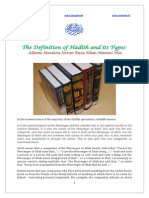 Hadith Definition and Its Types