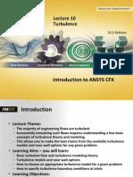 CFX-Intro 14.5 L10 Turbulence