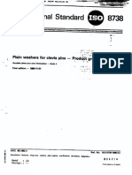 ISO 8738-1986 - Plain Washers for Clevis Pins