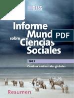 Informe Cambio Climático y Ciencias Sociales
