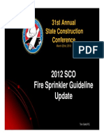2012 SCO Fire Sprinkler Guidelines & Fire Code Changes