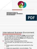 Intrnational Business Environment